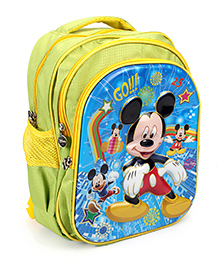 Disney Mickey Mouse OB School Bag Green - 16 inches