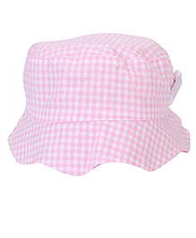 Little Wonder Checks Print Bucket Cap - Pink