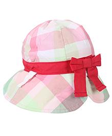Little Wonder Printed Bow Cap - Multicolour