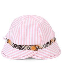 Little Wonder Strip Print Cap - Light Pink
