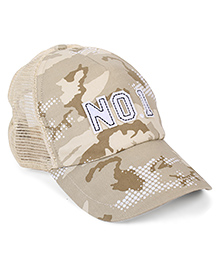 Little Wonder No 1 Print Cap - Cream