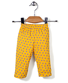 Tango Full Length Leggings Bow Print - Yellow