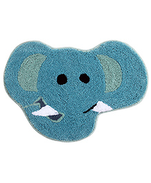 Saral Home Premium Quality Bath Mat Elephant Shape - Blue