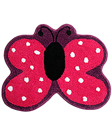 Saral Home Premium Quality Bath Mat Butterfly Shape - Pink
