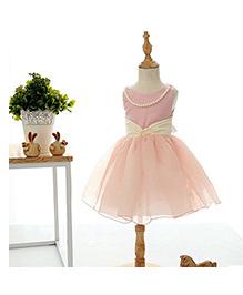 Peach Giirl Party Dress - Pink