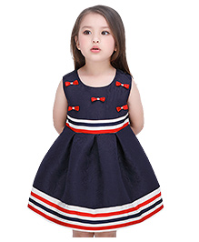 Peach Giirl Dress - Navy Blue