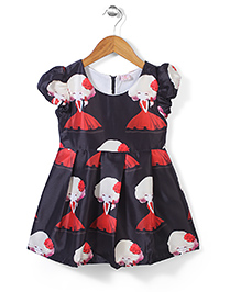 Peach Giirl Dress - Black & Red