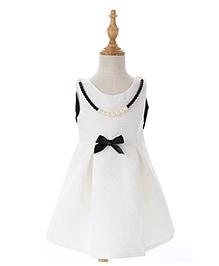 Peach Giirl Dress - White