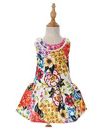 Peach Giirl Dress - Multicolour