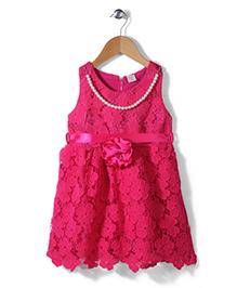 Peach Giirl Dress - Fuchsia