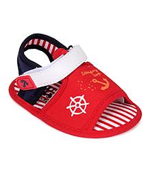 Cute Walk by Babyhug Booties Anchor Design - Red