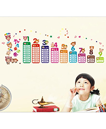 Studio Briana Let Us Learn Tables Wall Art Decal - Multicolor