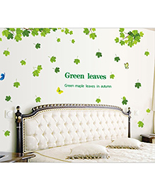 Studio Briana Green Maple Leaves In Autumn Wall Art Decal - Green