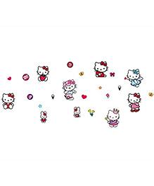 Studio Briana Hello Kitty Cute Wall Art Decal - Multicolor