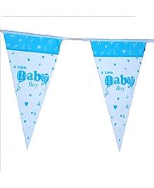 Planet Jashn Buntings A Little Baby Boy Print - Blue