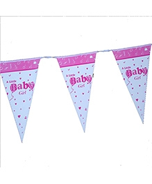 Planet Jashn Buntings A Little Baby Girl Print - Pink