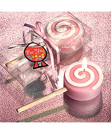 Planet Jashn Candy On A Stick Candle - Pink