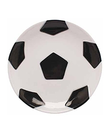 Planet Jashn Plastic Tray Soccer Print - Black And White