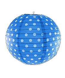 Planet Jashn Paper Lanterns Polka Dots Print - Light Blue