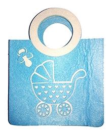 Planet Jashn Felt Bag Baby Carriage Print - Blue