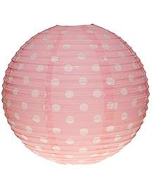 Planet Jashn Paper Lanterns Polka Dots Print - Light Pink