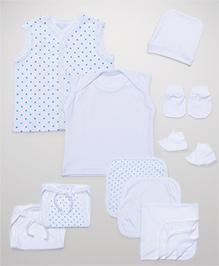 Babyhug Starter Set White - Pack Of 10