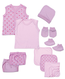 Babyhug Starter Set Pink - Pack Of 10