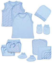 Babyhug Starter Set Light Blue - Pack Of 10