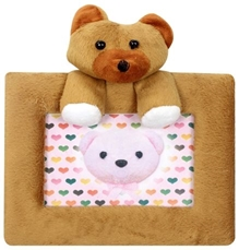 Photo Frame Bear Brown