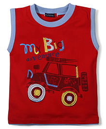 Great Babies Jeep Print T-Shirt - Red