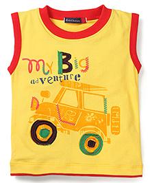 Great Babies Jeep Print T-Shirt - Yellow