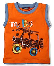 Great Babies Jeep Print T-Shirt - Orange
