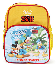 Disney Mickey Mouse & Friends Print School Bag Yellow and Red - 10.6 Inches