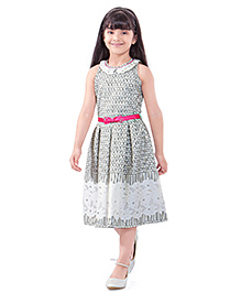 Tiny Baby Floral Print Dress - Off White