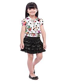 Tiny Baby Top & Skirt Set - Black & Multicolour