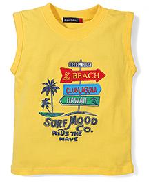 Great Babies Beach Clublaguna Hawaii Print T-Shirt - Yellow