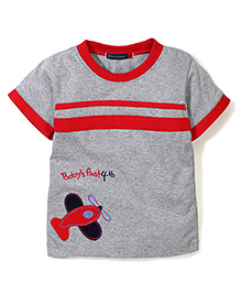 Great Babies Airplane Printed T-Shirt - Red
