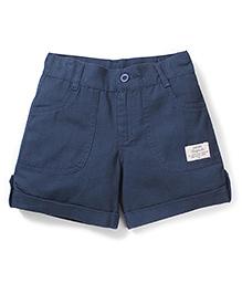 Babyhug Solid Colour Shorts - Blue