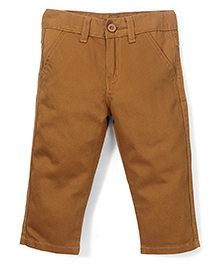 Babyhug Trouser With Pockets - Khaki