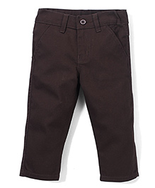 Babyhug Trouser With Pockets - Brown
