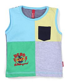 Spark Sleeveless T-Shirt Hero Print - Multi Color