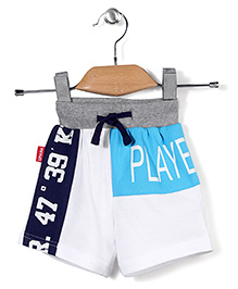 Spark Casual Shorts Players 89 Print - White