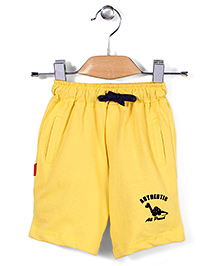 Spark Casual Shorts Authentic Print - Yellow