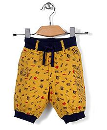 Spark Casual Shorts Multi Print - Yellow