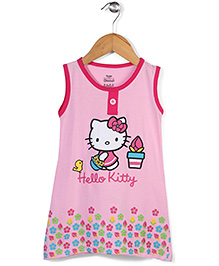 Hello Kitty Sleeveless Nighty Kitty Print - Pink