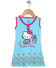 Hello Kitty Sleeveless Nighty Kitty Print - Blue