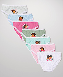 Dora Panties Set of 7- Multicolour