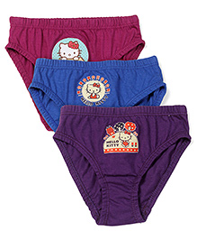 Hello Kitty Baby Panties Set of 3 - Dark Purple Blue