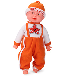 Kids Zone Laughing Boy Med Star Print - Orange