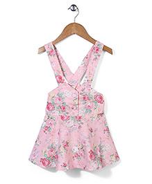 De Berry Floral Print Dress - Pink